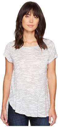 Kensie Marble Streaks Top KS4K3509 Women's Clothing