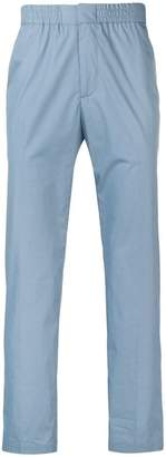 MSGM elasticated waist regular-fit trousers