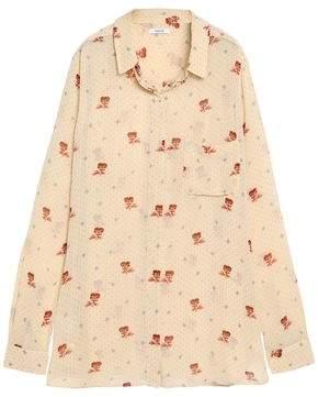 Ganni Floral-Print Chiffon Shirt