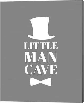 Metaverse Little Man Cave Top Hat And Bow Tie - Gray By Color Me Happy Canvas Art