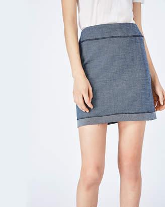 Nicole Miller Pinstripe Mini Skirt