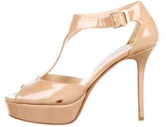 Jimmy Choo Patent Leather Ankle -Strap Pumps