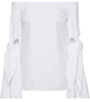 Ellery Lopez Off-the-shoulder Cotton-poplin Top