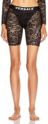 Versace Lace Biker Short in Black   FWRD