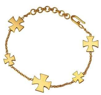 "Eina Ahluwalia Multi-Charm Gold Plated Bracelet ""Medal of Valor"""