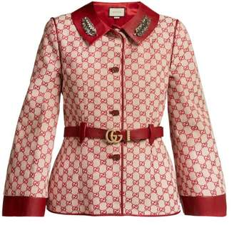 Gucci Gg Supreme Canvas Jacket - Womens - Red Multi
