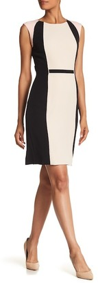 Tahari Colorblock Sheath Dress $128 thestylecure.com
