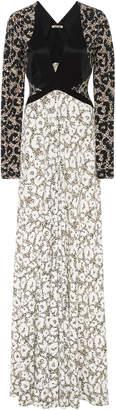 Roberto Cavalli Retro Leopard Long Sleeve Knit Dress