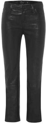 J Brand Selena Leather Mid-Rise Crop Bootcut