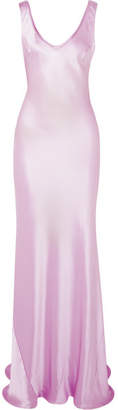 Galvan - Valetta Silk-satin Maxi Dress - Lilac