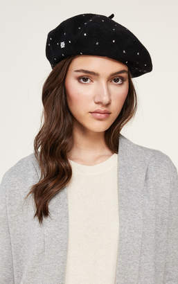Soia & Kyo SUZETTE classic beret hat with studs