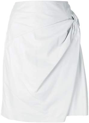 Drome knot detail wrap skirt