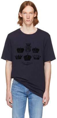 Pierre Balmain Navy Crown T-Shirt
