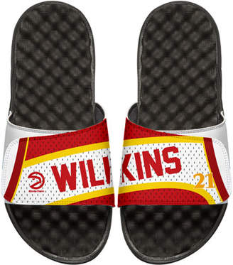 ISlide Men's NBA Retro Legends Dominique Wilkins 21 Jersey Slide Sandals, White