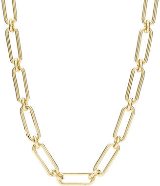 Fossil Link Gold-Tone Brass Necklace