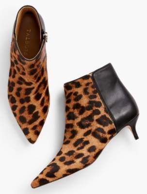 Talbots Iona Kitten Heel Ankle Boots-Haircalf