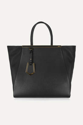 Fendi 2jours Large Textured-leather Shopper - Black ce8c9385c23b9