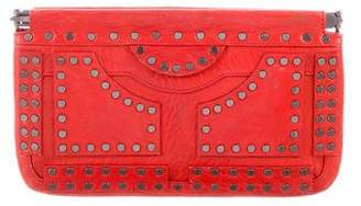 Diane von Furstenberg Studded Leather Clutch