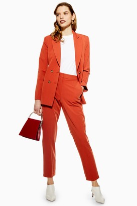 Topshop Womens Unlined Suit Trousers - Rust