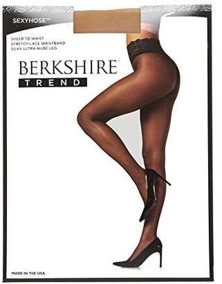 Berkshire Women's Trend Sexyhose Lace Waist Ultra Sheer Pantyhose