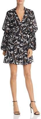 Acler Zammit Draped Floral Print Dress