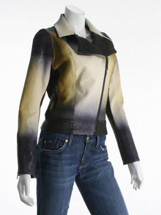 Elise Overland Ombre Leather Jacket, Black