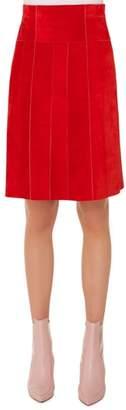 Akris Punto Suede A-Line Skirt