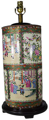 One Kings Lane Vintage Hand Painted Chinese Electric Lamp