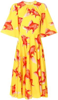 Dolce & Gabbana fish print shift dress