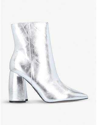 Kurt Geiger Tyra metallic faux-leather boots