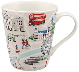 Cath Kidston Stanley London Map Mug, 400ml, White/Multi