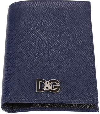 Dolce & Gabbana Dark Blue Logo Wallet