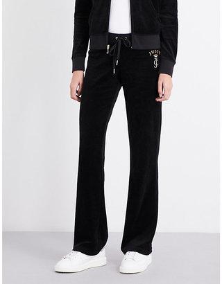 Juicy Couture Bou Robert velour jogging bottoms $174 thestylecure.com