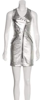 Jeremy Scott Metallic Leather Dress w/ Tags