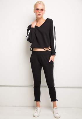 Generation Love Sharyn Stripe V Neck Sweatshirt