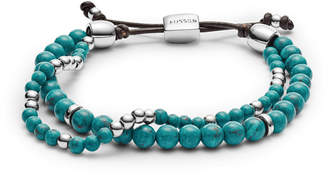 Fossil Duo Turquoise Reconstituted Marble Beaded Bracelet