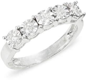 Effy 14K White Gold and 0.25 Total Carat Weight Diamond Ring