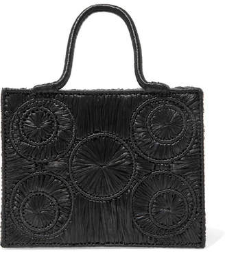Sophie Anderson - Caba Leather-trimmed Raffia Tote - Black