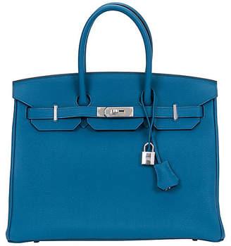 One Kings Lane Vintage HermAs Birkin 35 Cobalt Bag - Vintage Lux