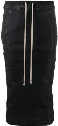 Rick Owens fitted drawstring skirt