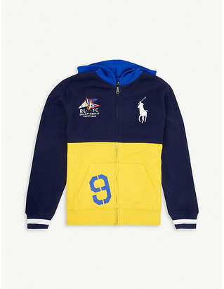 Ralph Lauren Logo-embroidered cotton-jersey hoody 4-14 years