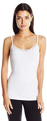 Columbia Women's Cotton Stretch Cami with Elastic Lace