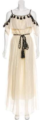 Rachel Zoe Pom-Pom Accented Pinstripe Dress w/ Tags