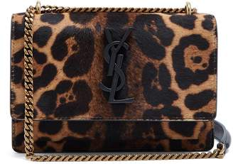 Saint Laurent Sunset leopard-print cross-body bag