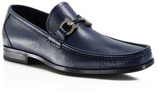 Salvatore Ferragamo Men's Grandioso Calfskin Leather Loafers with Double Gancini Bit - 100% Exclusive