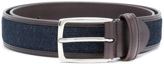 Canali contrast buckled belt