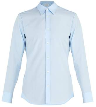 Maison Margiela Single Cuff Cotton Shirt - Mens - Light Blue