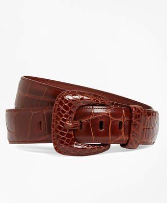 Brooks Brothers Alligator Wide Belt
