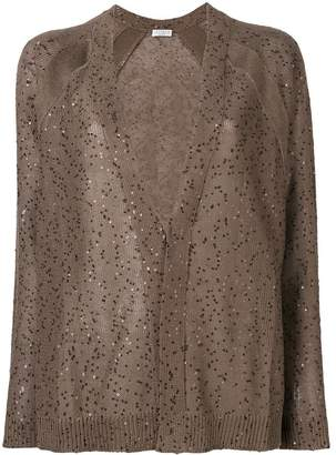 Brunello Cucinelli sheer cardigan with sequins