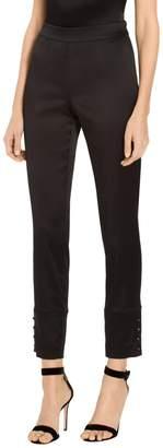 St. John Stretch Satin Cropped Pants
